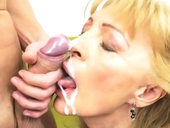 Matures and grannies cummed on - cumshot compilation